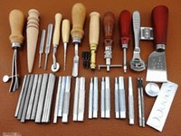 Wholesale 35 Tools Leathercraft Tool Set Leather Craft Hand Sewing Kit No Leather Tool