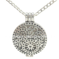antique gears - Antique mm Gear Locket Necklace Perfume Essential Oil Aromatherapy Diffuser