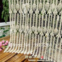 Wholesale new ZAKKA cotton crochet lace door curtain for home decoration fashion coffee table curtain sheer curtains