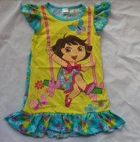 Wholesale nickelodeon dora summer little girl Dresses