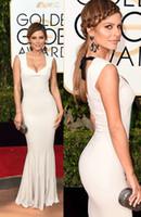 achat en gros de golden globe robe blanche-2016 globe doré prix robes blanches soirée sirène avec bouchon robes formelles 73e célébrité rouge tapis robes