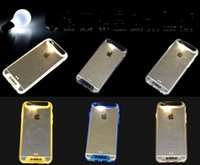 For Apple iPhone TPU as pictures show for iphone 6 6plus 5s tpu call flash verus case call lighting led back cover calling sense flash light clear transparent cases skin DHL