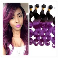 Cheap Hot Sale Ombre Hair Extensions Color Brazilian Hair Body Wave Weaves Human Hair Extensions Weft 3 pcs lot
