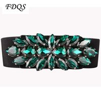 beauty fabric belt - Luxury Beauty Gorgeous Austrian Crystal Strap Multi Colored Wild Cintos High Quality Designer Belts For Women