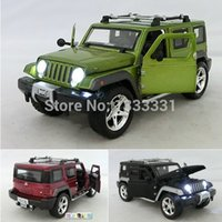 antique jeep - caibo Jeep Wrangler Pull Back Acousto optic Toys Classic Alloy Antique Car Model