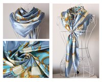 Cheap Changed silk super 90 cm large squares female silk scarves autumn winter scarf