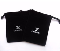 Wholesale Black Velvet Jewelry Pouch Small Drawstring Pouches Bag With logos quot X3 quot