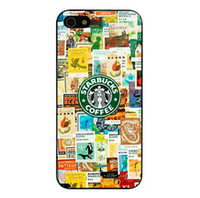 apple phone pictures - Starbucks Coffee Logo Picture Design Hard Plastic Mobile Protective Phone Case Cover For iPhone S S C