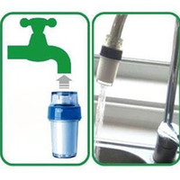 Wholesale 2013 Home Kitchen Simple Easy Faucet Tap Water Clean Filter Double Purifier Head PP B376