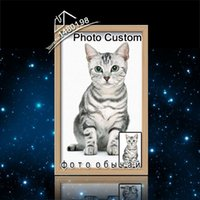 Diamond pintura del gato DIY Abalorios Ganchos taza, imagen personalizada de los granos del bordado de punto, modelo del diamante 30 FMC-2007