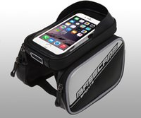 bicycle panniers sale - Hot sale Waterproof Cycling Sport Bike Accessories Bicycle Frame Pannier Front Tube Bag bike tube bag for iphone cellphone