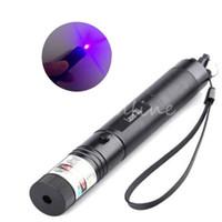 Wholesale car New Stylish Purple Laser Pointer Pen Adjustable Focus Super Laser Visible Beam nm mw with Keys Presentation