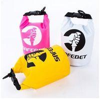 Wholesale 2L New Portable Waterproof Bag Storage Dry Bag for Canoe Kayak Rafting Sport Outdoor Organizer Travel Kit Equipment Raft Bag LJJC1410