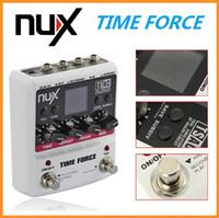 al por mayor nux pedales-NUX TIME FORCE Multi Digital Delay Efectos Efectos de Guitarra Eléctrica Pedal Guitarra Guitar Tuner Accesorios Instrumentos Musicais