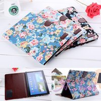 10.1 tablet case - ePacket For Galaxy Note P600 Flower Cloth Leather Case Wallet Stand Book Flip Tablet Leather Wallet