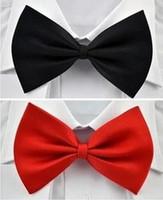 Wholesale 2016 Fashion Wedding Bow Ties for Groomen solid color bow ties neck tie knot men s necktie bows colors bowtie