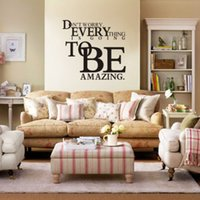 amazing quotes - Famous Motto Everything To Be Amazing Quote Wall stickers Decal Art Room Decor