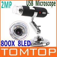 Wholesale 2MP Mega Pixels X LED USB Digital Microscope Endoscope Magnifier CMOS Camera Drop Shipping