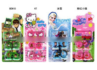 Wholesale 30sets Minions Stamp Childrens Cartoon Stationery Pattern Stamp Sets Big Hero Sofia KT Cat Cinderella Action Figures Kids Toys