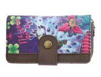 Wholesale new Purple desigual Clutch ladies purse multi Card Wallet Handbag PU twill printing embroidery Free postage Desigual wallet