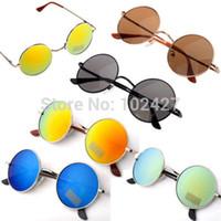 Wholesale Unisex Hippie Shades Hippy S John Lennon Style Vintage Round Peace Sunglasses