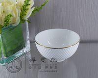 cake bowl - 4 quot Golf Dinner Bowls Round Rice Bowl fine porcelain ceramics Bread PLate Shara Cake Bowl home Housewear Furnishings Kitchen Tableware