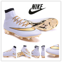 Wholesale 2016 Nike Mercurial Superfly CR7 anniversary Soccer Shoes Soccer Boots Cleats Laser original Men shoes Soccer Shoes Football Shoes