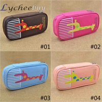 Cheap Portable Lovely Fashion Zipper Pencil Box Student Storage Pencil Case Stationery