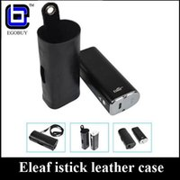 vape battery - Original Ismoka eleaf istick leather case carry vape cases e cig pouch large with ego lanyard ring for istick w w battery mod kits