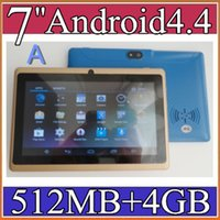 "Cheap 40X 7"" Capacitive Allwinner A33 Quad Core Android 4.4 dual camera Tablet PC 4GB 512MB WiFi flash Protective film capacitance pen 6-7PB"