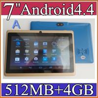 Wholesale 40X quot Capacitive Allwinner A33 Quad Core Android dual camera Tablet PC GB MB WiFi flash Protective film capacitance pen PB