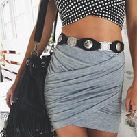 Wholesale Skirts for Women American Apparel Street Designer Pleated Pencil Skirts High Waist Sexy Lady Bodycon Black Skirt Adult Pettiskirt