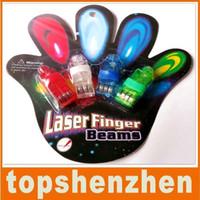 Wholesale Factory Price Colorful Laster Finger LED Light Bling Bling Halloween Gift Beam Mini Finger Lamp Ring Light DHL Fedex Freeshipping