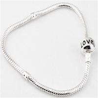 bijoux - 3mm cm cm snake chain love bracelet fit pandora european charm bracelet bijoux women and men
