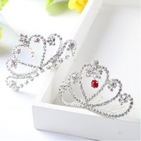 Wholesale 2015 selling wedding bride deserve to act the role of diamond crown beauty accessories bright children hair accessories