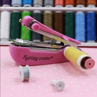 apparel machinery - Useful Portable Needlework Cordless Mini Hand Held Cloth Energy Saving Fabric Sewing Machine Household Apparel Machinery Product