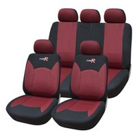 auto interior material - Auto Youth Jacquard Material Car Seat Covers Universal Fit For quot R quot Embroidery Car Seat Interior Accessories Colour Red and Black order lt no