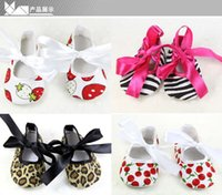 Wholesale Baby Boys Girls soft cotton Babies Non slip toddler shoes Leopard Printed baby toddler shoes