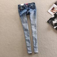 100 cotton jeans for women - Skinny womens jeans New Arrival Boyfriend Robin Jeans For Women Slim Denim Pencil Pants Ladies Jeans Plus Size women clothes