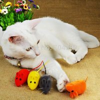 Wholesale FD599 Pet Cat Kitten Dog Playing Toy False Mouse Rat Squeak Noise Sound Toy pc