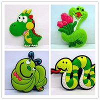 Wholesale 5 styles Cartoon the snake magnetic Fridge Magnets Cartoon creative fridge magnets PVC soft rubber fridge magnets Rubber fridge magnets