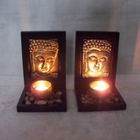 religious candles - Polyresin Candle Stand Religious Activities Chinese Buddhism candlestick household adornment resin handicraft