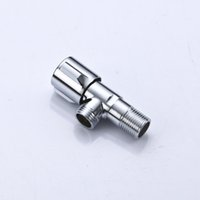 Wholesale 1 piece High Quality Brass Angle Valve Bathroom Toilet Water Valve Stop Cock Valve chrome plated A D009