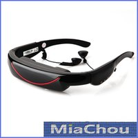 Wholesale 72 Inch Wide Screen Virtual Video Glasses with AV Input GB Flash for iPhone iPad Mini Video Game