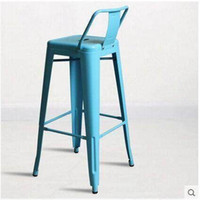 Wholesale Front foot stool bar stool high fashion wrought iron bar chairs metal chairs loft industrial factory outlets