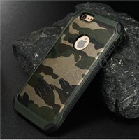 army armor - iPhone S plus in1 Army Camo Camouflage Pattern back cover Hard Plastic and Soft TPU Armor protective phone cases