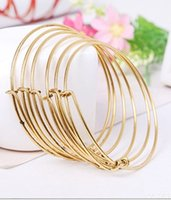 beaded chain hooks - Silver Gold Alex and Ani Wire bracelet adjust alloy bangle cuff statement jewelry band for women mens DIY bracelets