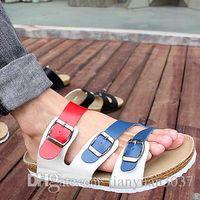 Wholesale New summer shoes brand design women and men sandals BIRKENSTOCK cork sandals casual flip flops comfortable sandalias women men TY749