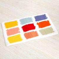 Wholesale SMILE MARKET Art Design Household Plush Rectangular Absorbent Anti slip Mats