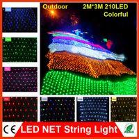 Wholesale 2 m LED Net string light Led flash modes V Christmas Xmas Wedding Party Decorations chains Luminarias lights